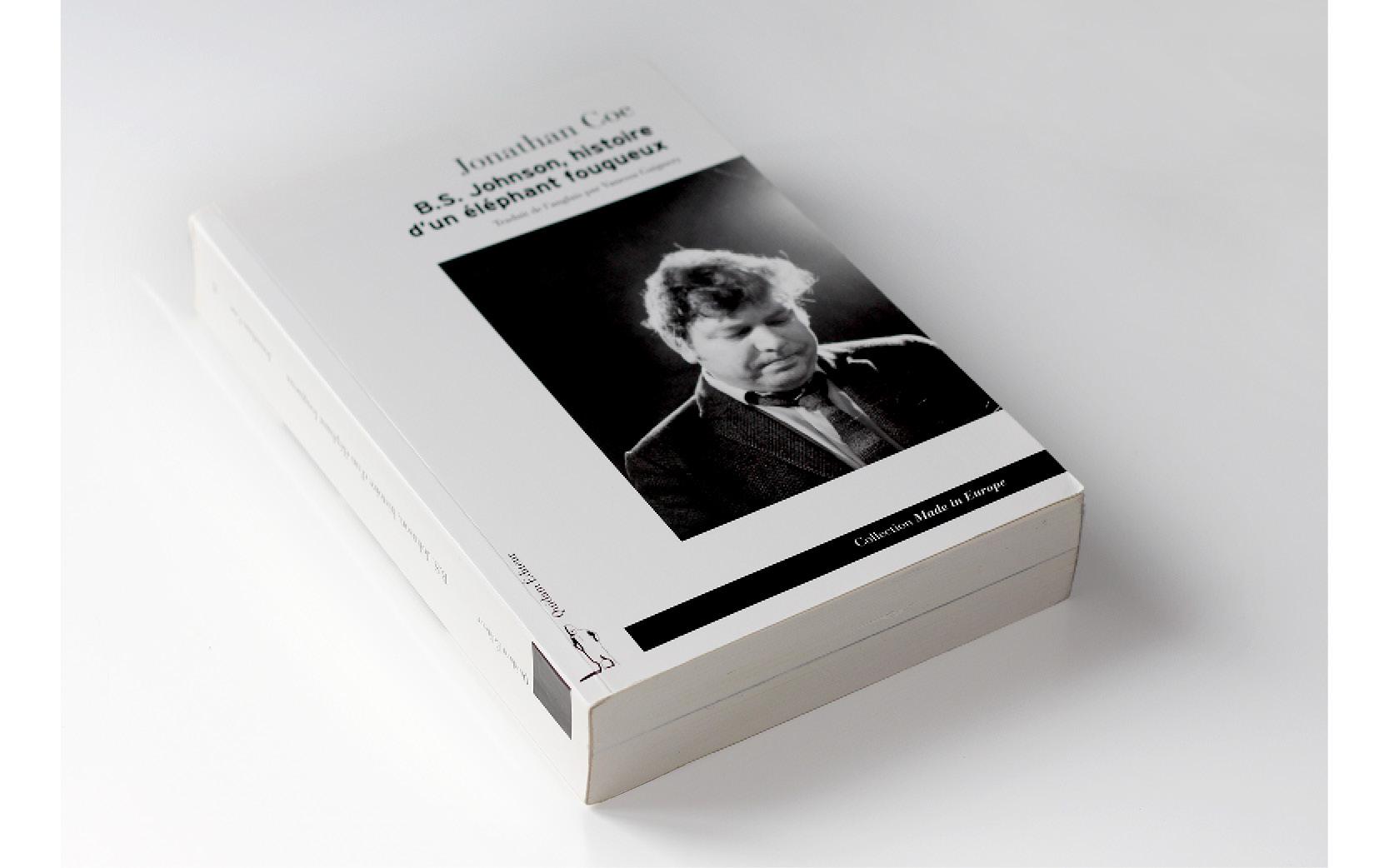 Mise ne pages et retouche image de la Couverture du livre BS Johnson.