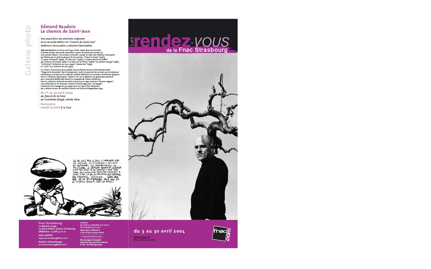 Mise en page et retouche photo pour la Fnac Strasbourg, agenda mensuel.
