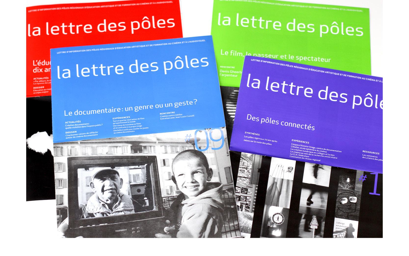Mise en pages et retouches images des Lettres des Pôles, de 2008 à 2010.