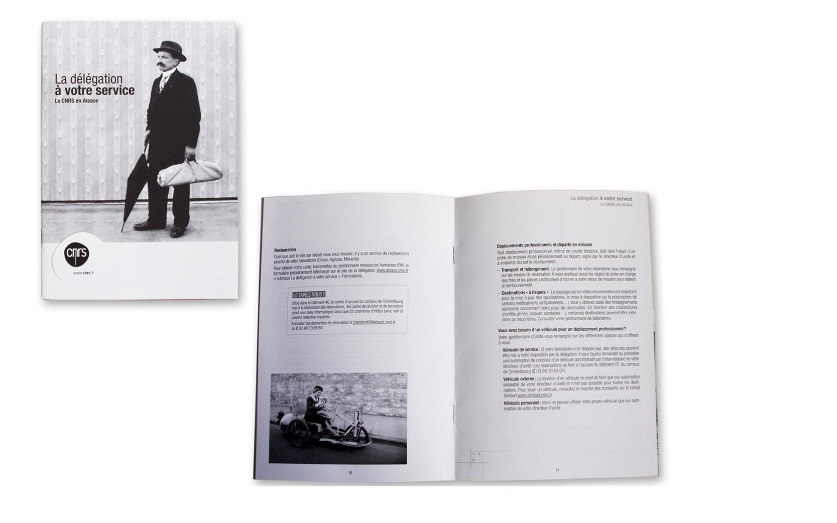 Mise en pages et graphisme du Livret d'accueil CNRS.