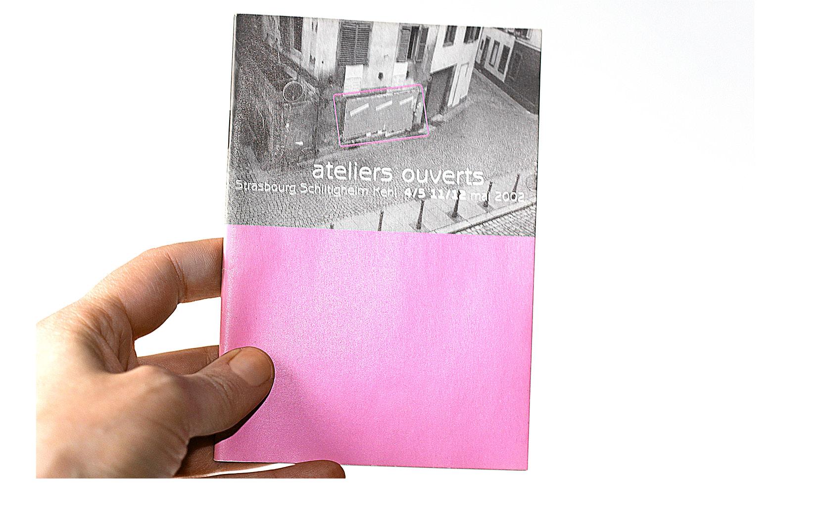 Graphisme et mise en pages du livret Ateliers ouverts, 2002.
