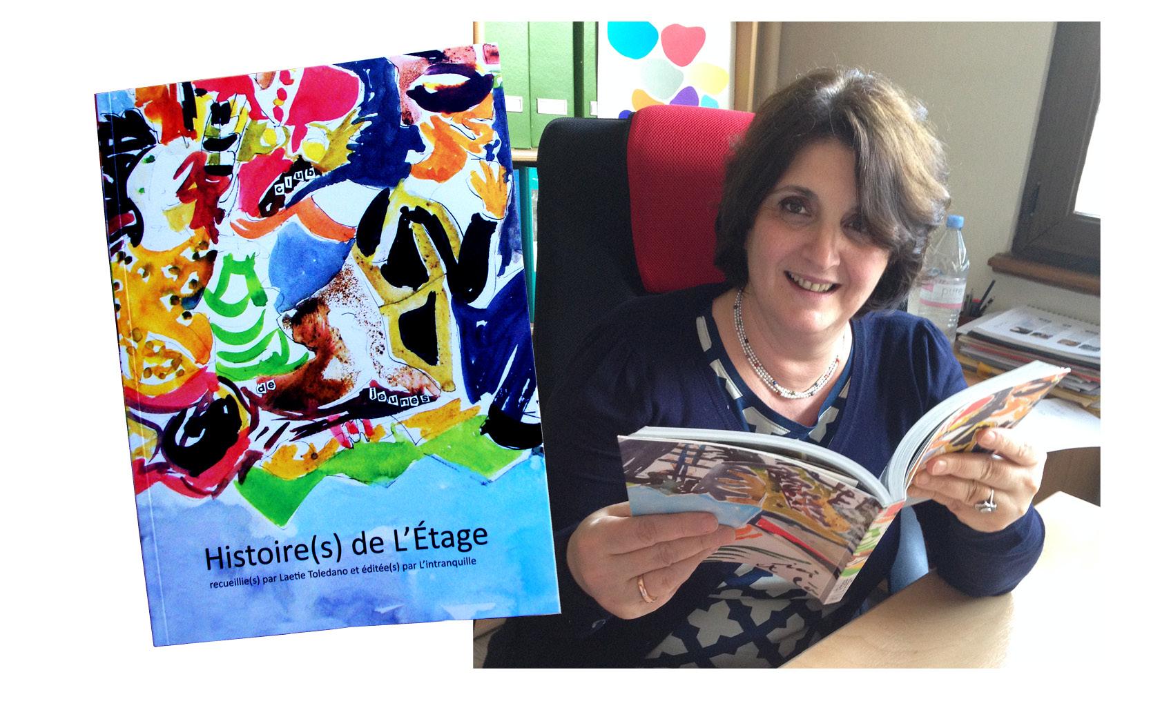 Ouvrage de 222 pages réalisé pour les 30 ans de l'Etage. Ici avec son auteure, Laetie Toledano.