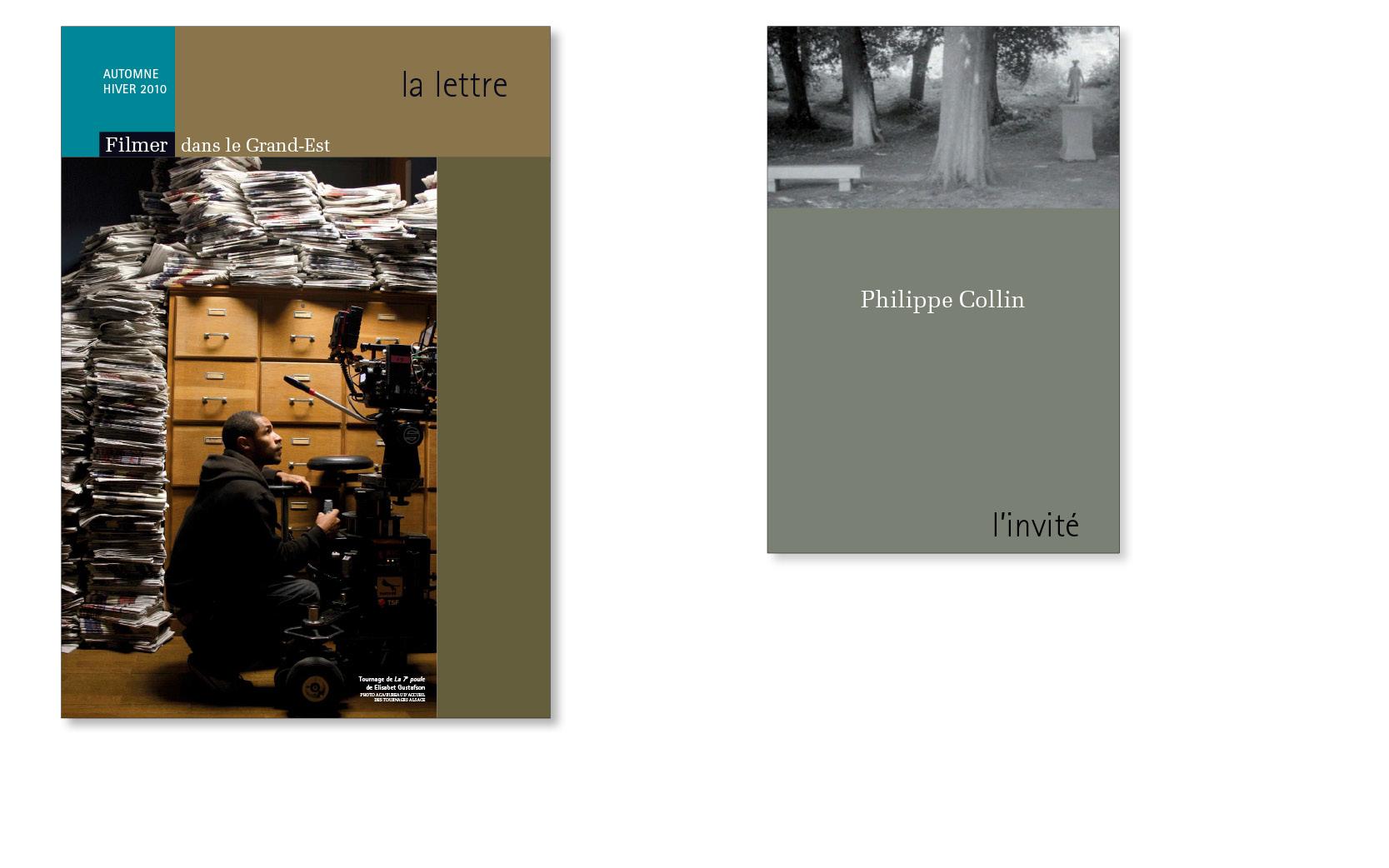 Revue professionnelle  La Lettre Filmer dans le Grand-Est et son supplément L'invité,  2006 à 2011.