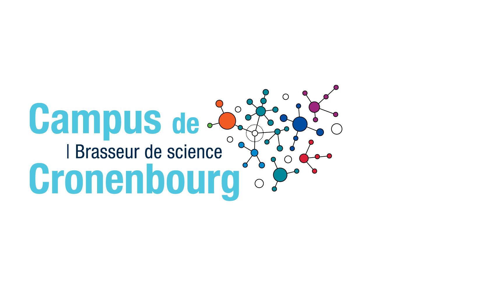 Création du logotype du campus de Cronenbourg, à l'occasion des 50 ans du campus, CNRS délégation Alsace, 2009.