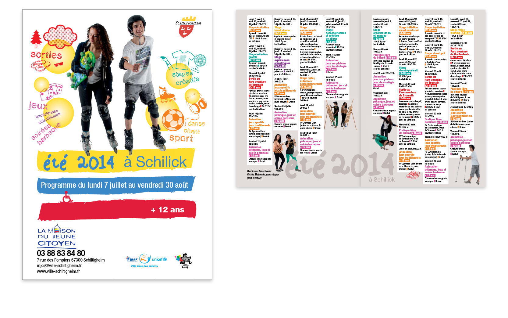 Programme été, Ville de Schiltigheim, 2014.
