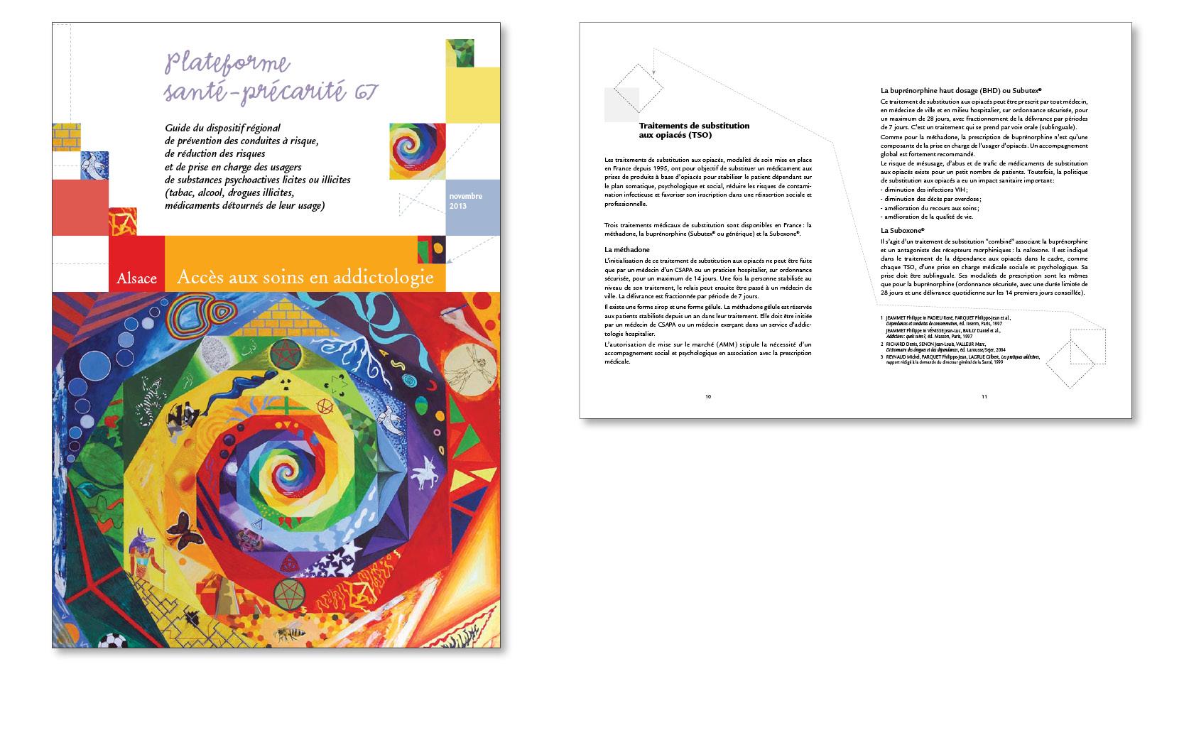 Guide accès aux soins en addictologie en Alsace, 2012, réédition 2014.